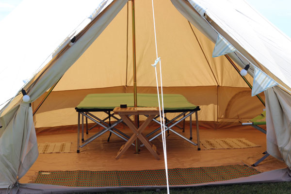4m/5m furnished glamping bell tent